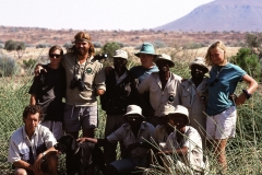 Group photo with game guards and me near Poachers Camp in Damaraland (1998).
