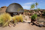 The Mowani Mountain Camp integrates beautifully into the landscape around Twyfelfontein.